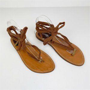 LUNA ROSA x PAZZO Wrap Around Flat Sandals Strappy